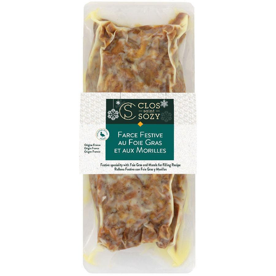 Farce festive au foie gras et aux morilles 400g