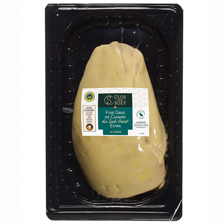 Foie gras de canard du Sud Ouest extra 1er choix