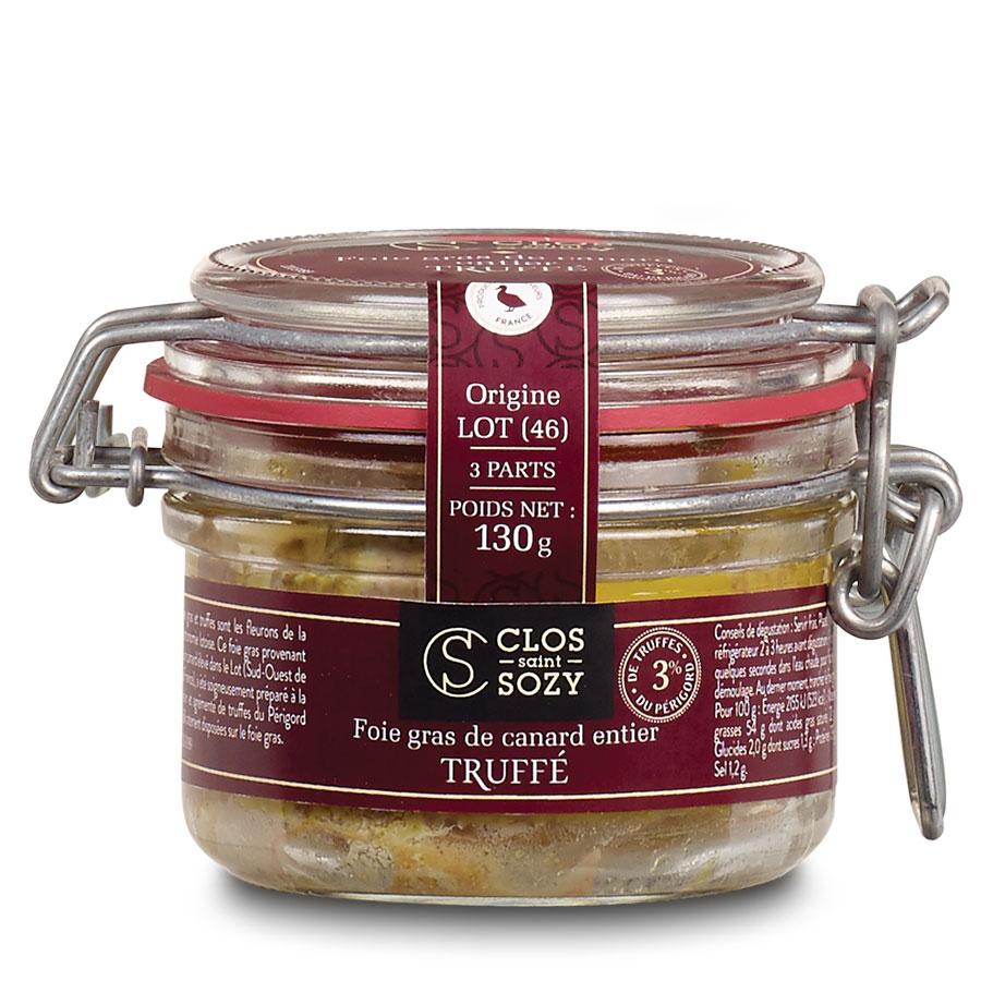 Foie gras de canard entier truffé 130g