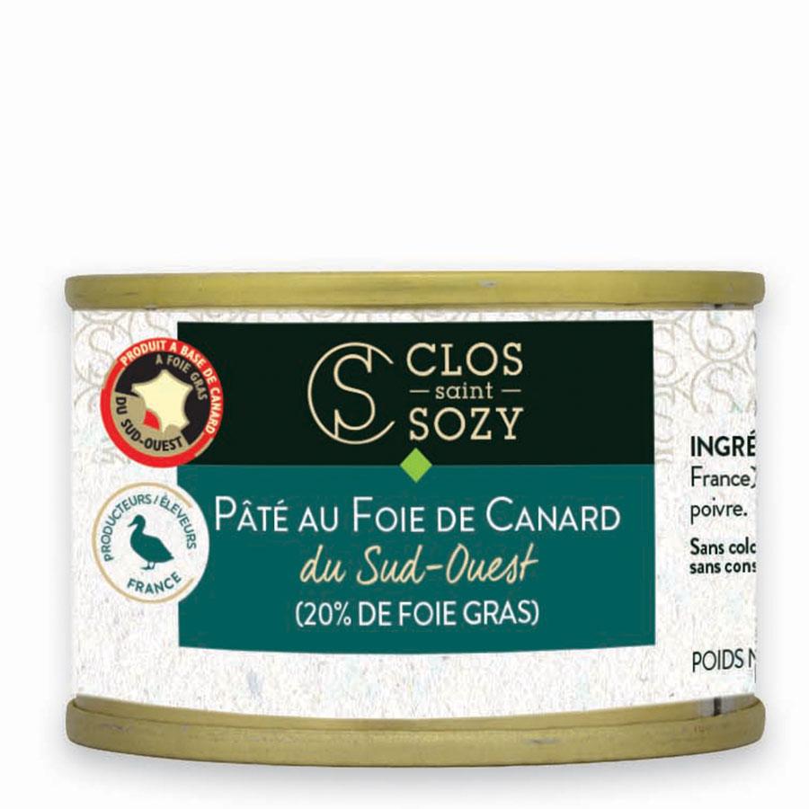 Pâté au foie gras de canard du Sud Ouest 20% de foie gras 65g