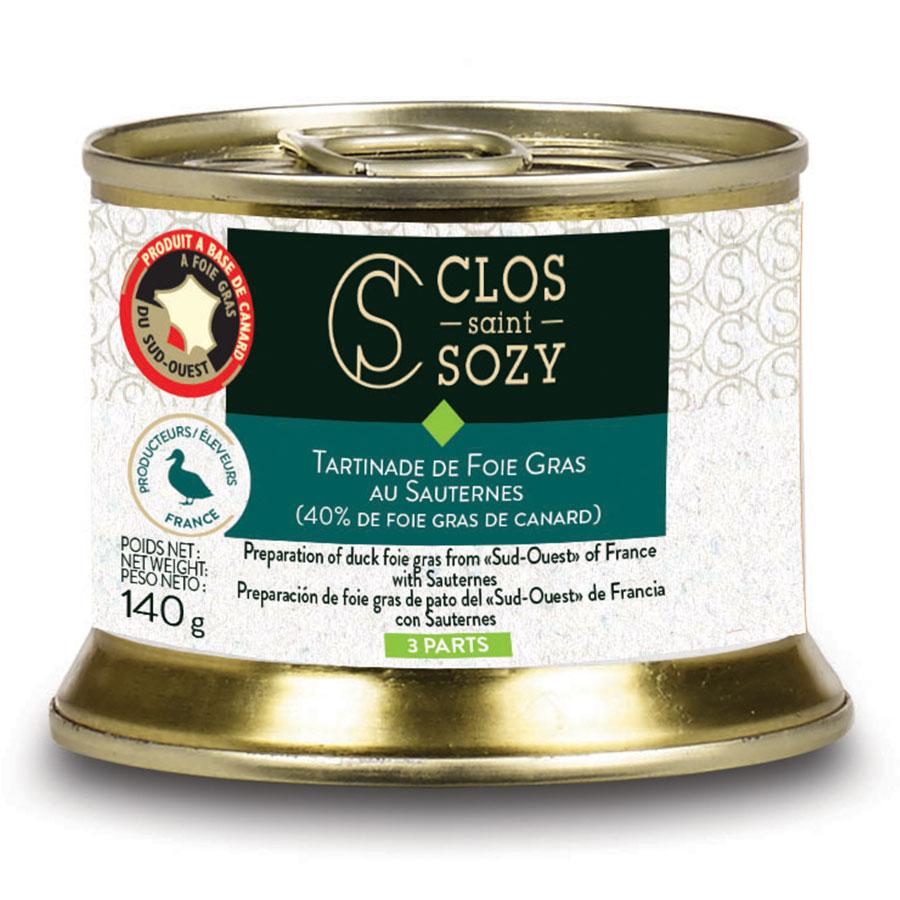 Tartinade de foie gras au Sauternes 40% de foie gras 140g