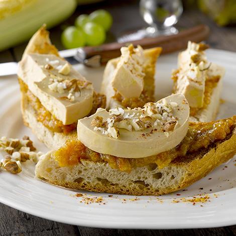 Toast de foie gras et confiture de figues